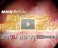 「NHKスペシャル 腸内フローラ」必見!見逃しは再放送で