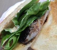 ヨルタモリ サバサンドが激ウマに!サバ塩麹とサラダ菜で作ったレシピ